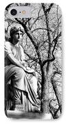 Cemetary Statue B-w IPhone Case