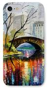 Central Park IPhone Case by Leonid Afremov