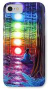 Chakra Meditation In The Redwoods IPhone Case by Laura Iverson