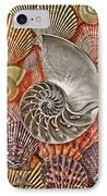 Chambered Nautilus Shell Abstract IPhone Case by Garry Gay