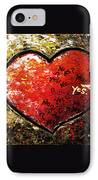 Chaos In Heart IPhone Case