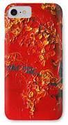 Cherry Blossom Tree - Red Yellow IPhone Case