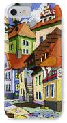 Chesky Krumlov Masna Street 1 IPhone Case by Yuriy  Shevchuk