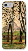Chestnut Trees At The Jas De Bouffan IPhone Case by Paul Cezanne