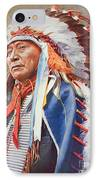 Chief Hollow Horn Bear IPhone Case