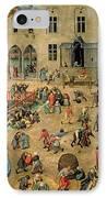 Children's Games IPhone Case by Pieter the Elder Bruegel