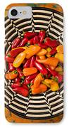 Chili Peppers In Basket  IPhone Case by Garry Gay