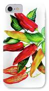 Chillies From My Garden IPhone Case by Karin  Dawn Kelshall- Best