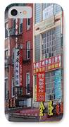 China Town Buildings IPhone Case