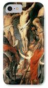 Christ Between The Two Thieves IPhone Case by Peter Paul Rubens
