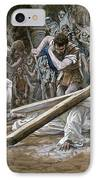 Christ Falls Beneath The Cross IPhone Case by Tissot