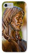 Christ In Bronze IPhone Case by Christopher Holmes