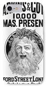 Christmas Present Ad, 1890 IPhone Case by Granger