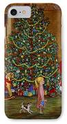 Christmas Visitor IPhone Case by Linda Mears