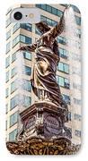 Cincinnati Fountain Genius Of Water By Tyler Davidson  IPhone Case by Paul Velgos