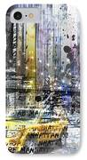 City-art Nyc Collage IPhone Case by Melanie Viola