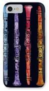 Clarinet Rainbow IPhone Case by Jenny Armitage