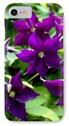 Clematis Flowers IPhone Case by Corey Ford