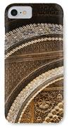 Close-up View Of Moorish Arches In The Alhambra Palace In Granad IPhone Case