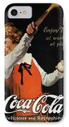 Coca-cola Ad, 1923 IPhone Case by Granger