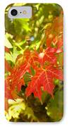 Colorful Fall Leaves Red Nature Landscape Baslee Troutman IPhone Case