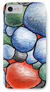 Colorful Rock Abstract IPhone Case by Nancy Mueller