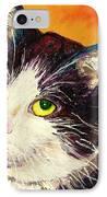 Commission Your Pets Portrait By Artist Carole Spandau Bfa Ecole Des Beaux Arts  IPhone Case