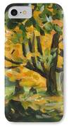 Concord Fall Trees IPhone Case by Claire Gagnon