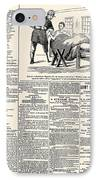 Confederate Newspaper IPhone Case by Granger