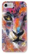 contemporary Wildlife painting cheetah leopard  IPhone Case
