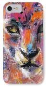 contemporary Wildlife painting cheetah leopard  IPhone Case by Svetlana Novikova
