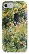 Conversation In A Rose Garden IPhone Case by Pierre Auguste Renoir