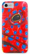 Coral Groupper II IPhone Case by Daniel Jean-Baptiste