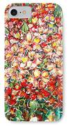 Cottage Garden Flowers IPhone Case