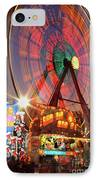 County Fair Ferris Wheel 2 IPhone Case by Corky Willis Atlanta Photography