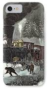 Currier And Ives IPhone Case