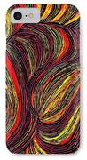 Curved Lines 3 IPhone Case by Sarah Loft