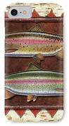 Cutthroat And Rainbow Trout Lodge IPhone Case by JQ Licensing