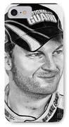 Dale Earnhardt Jr In 2009 IPhone Case by J McCombie