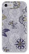 Deco Flower Blue IPhone Case