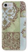 Deco Heart Sage IPhone Case by JQ Licensing