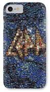 Def Leppard Albums Mosaic IPhone Case by Paul Van Scott