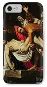 Deposition IPhone Case by Michelangelo Merisi da Caravaggio