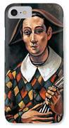 Derain: Harlequin, 1919 IPhone Case by Granger