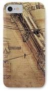 Design For A Giant Crossbow IPhone Case by Leonardo Da Vinci