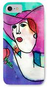 Design Lady IPhone Case by Jessie Abrams Age Eleven