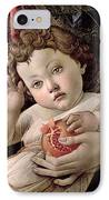 Detail Of The Christ Child From The Madonna Of The Pomegranate  IPhone Case