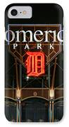 Detroit Tigers - Comerica Park IPhone Case by Gordon Dean II