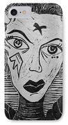 Devil Print Two Out Of Five  IPhone Case by Thomas Valentine