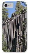 Devils Postpile National Monument - Mammoth Lakes - East California IPhone Case by Christine Till